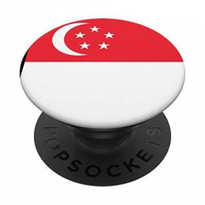 National Flags Patriotic Phone Accessories Singapore Flag Patriotic Singaporean Phone Holder Girls Boys PopSockets Grip and Stand for Phones and Tablets