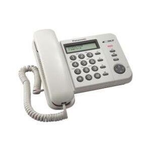 Panasonic KX-TS560EX1W telephone - telephones (LCD, AA, 190 x 95 x 196 mm)