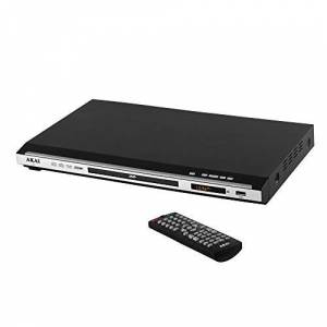Akai Slimline DVD Player, Easy-to-Read LED Display, 5.1 Channel with Superior Audio Quality and Sound, USB Input, Multi-Region, HDMI Port, Remote Control Included, Black