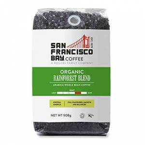 San Francisco Bay San Fransisco Bay Coffee Beans G, Organic Rainforest Blend, 908 Gram