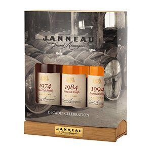 Janneau Trilogy Vintage Armagnac set 1974,1984,1994 Brandy, 20 cl (Case of 3)
