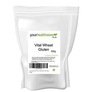 yourhealthstore® Premium Vital Wheat Gluten Flour 500g, 87.5% Protein, Non GMO, Vegan (Recyclable Pouch)
