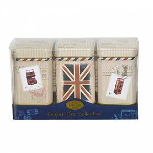 New English Teas Travel Collection Loose Tea Mini Tin Triple Pack 75 g