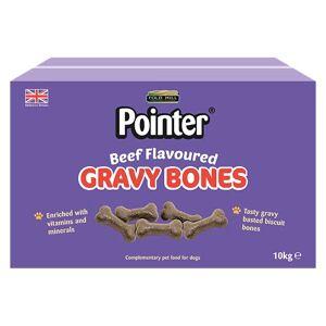 Chewdles Gravy Bones Dog Treats, Beef, 10 kg