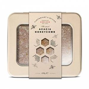 Cartwright & Butler Acacia Honeycomb Tin 100% Acacia Honeycomb Ideal for Drizzling on Fruit or Topping Porridge and Cakes Super Sweet and Light Perfect Gift - Acacia Honey