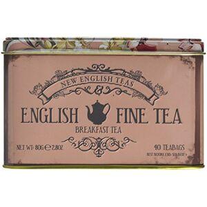 New English Teas Fine English Breakfast Tea Tin 40 Tea Bags