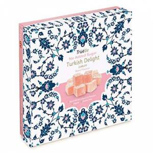 Truede YOU'LL BE DELIGHTED Truede No Added Sugar Rose Flavour Turkish Delight Rose Flavour (110g) - Hand-Made, Dusted, No-Added Sugar Rose Flavoured Turkish Delight
