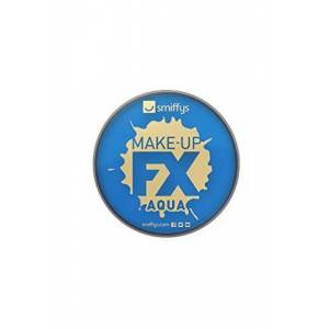 Smiffys Make Up FX Aqua Face and Body Paint Water Based, 16 ml - Royal Blue