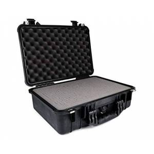 PELI 1500 Watertight Protective Case, IP67 Rated, 40L Capacity, Made in Germany, With Customisable Foam Inlay, Black