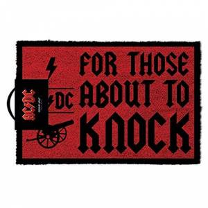 AC/DC For Those About To Knock Doormat, Coir, Multi-Colour, 40 x 60 cm