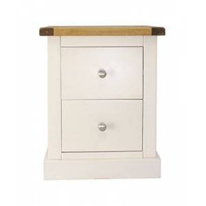 Cabinet Bits 2 Drawer Bedside, pine, White, 40x45x56 cm
