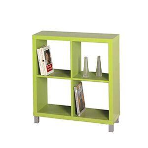 Kit Closet Kubox - Bookcase, 4 Hole Green