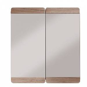 trendteam smart living Trendteam Bathroom Mirror Cabinet Malea Sam Remo Oak, Brown