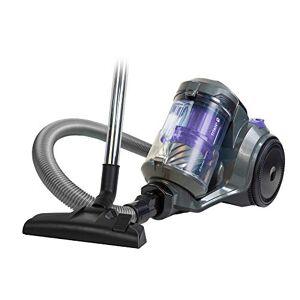 Russell Hobbs RHCV4601 TITAN 2 Pet Cylinder Vacuum in Grey and Purple - Pet Turbo Tool - 8 m Cleaning Radius - 2 Year Guarantee