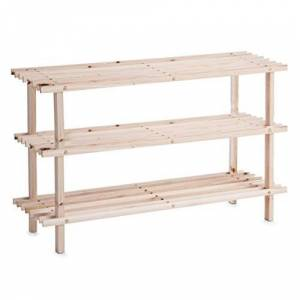 Zeller 13127 Shoe Rack Pine 3 Shelves 80 x 26 x 49.5 cm