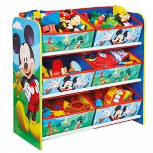 Hello Home Disney Mickey Mouse Kids Bedroom Storage Unit with 6 Bins by HelloHome
