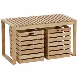 axentia Bench with Storage Space, ca. 80 x 40 x 45 cm