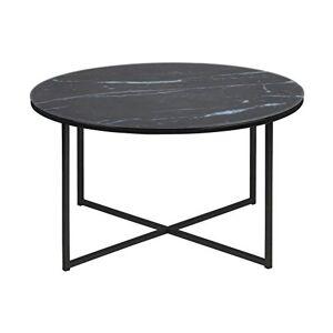 AC Design Furniture Coffee Table, Black, 80 x 80 x 45 cm