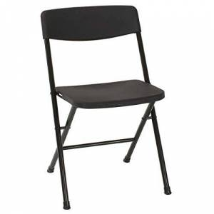 Cosco Resin Resing Folding Chair with Molded Back and Seat x 4, Black