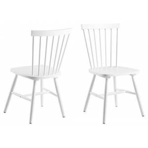 AC Design Furniture Chair, Wood, white