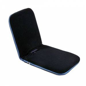 Sold By Mhstar HOMCOM Foldable Padded Floor Chair with Adjustable Backrest Thick Seat Cushion Lazy Lounge Sofa (Navy Blue)