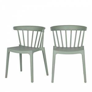 Woood Bliss Bars Chair Plastic, Jade Green, Breite: 52 cm Tiefe: 53 cm Hhe 75 cm