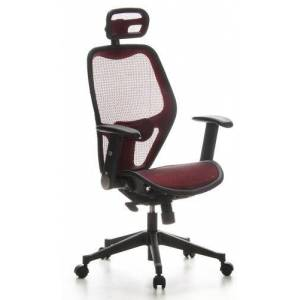 hjh OFFICE Air Port Mesh Office/Executive Chair - Red