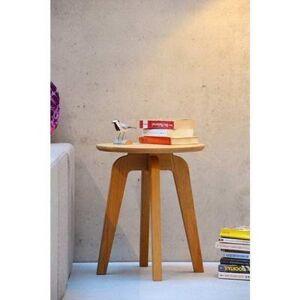 Jan Kurtz Side Table, Oak, Brown, 40 cm