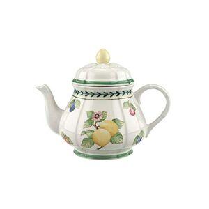 Villeroy & Boch French Garden Fleurence Teapot, 1 Litre, Premium Porcelain, White/Multicoloured