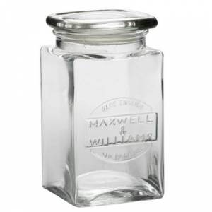 Maxwell & Williams Olde English Airtight Glass Jar with Lid, 1 L