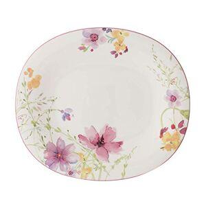 Villeroy & Boch Mariefleur Basic Oval Dinner Plate, 29 x 25 cm, Premium Porcelain, White/Multicoloured