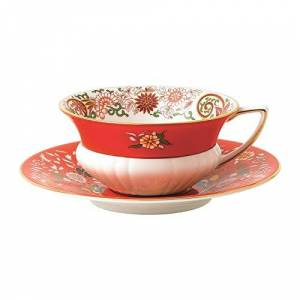 Wedgwood 40031700 Wonderlust Teacup & Saucer Set, Fine Bone China, Teacup/Saucer