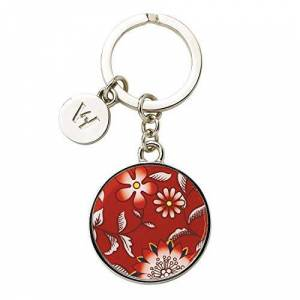 Wedgwood 40023949 Wonderlust Key Ring, Zinc Alloy, Crimson