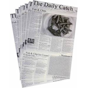 """Porcelite Presentation CB0010 Greaseproof Daily Catch, 25.5 cm x 40.5 cm/10"""" x 16"""" (Pack of 500)"""