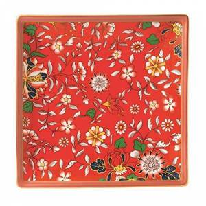 Wedgwood 40023907 Wonderlust Crimson Jewel 14.5cm Boxed, Fine Bone China, Gift Tray