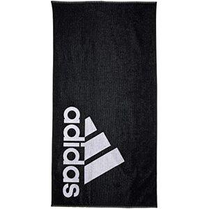 adidas Unisex Adult Linear Towel - Black/White, 70 x 140 cm