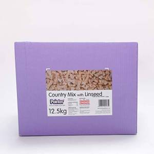 Pointer - Country Mix with Linseed - Oven Baked Dog Biscuits with Added Vitamins and Minerals, Freshly Milled Wheat, 12.5kg Box, PB2226