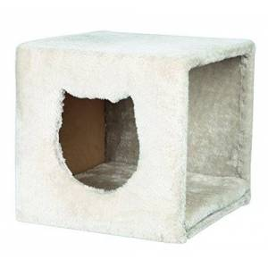 Trixie Cuddly Cave for Shelves, 33 x 33 x 37, Light Grey