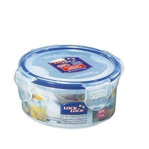 Lock & Lock Round Storage Container - Clear/Blue, 300 ml