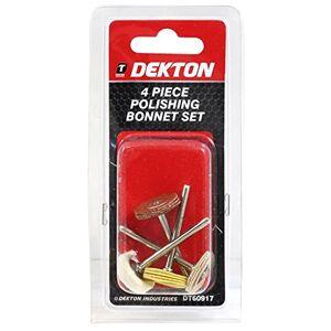 DEKTON DT60917 Polishing Bonnet Set, 240 V, Black/Red, Set of 4 Pieces