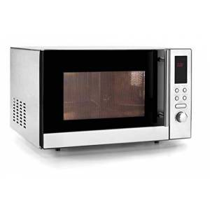 LACOR Microwave Oven with Turntable and Grill, Stainless Steel, Silver, 21 Litre
