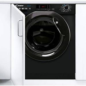 Candy CBD 485D1BBE/-80 Integrated Washer Dryer, 8 & 5kg, 1400 rpm Black