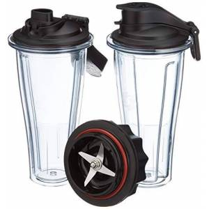 Vitamix Ascent Series Blending Cup Starter Kit, 600 mL, BPA-Free Plastic, 600 milliliters, Clear