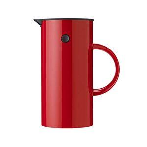 Stelton 813Em Press Filter Flask 1Litre Plastic, Red, 14x 14x 22cm