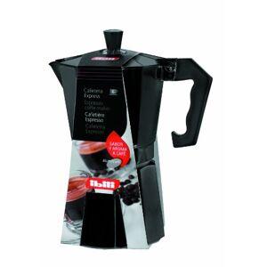"""ibili """"Bahia"""" 3-Cup Espresso Coffee Maker, Silver/Black"""