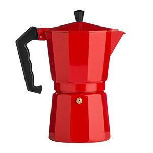 Premier Housewares Red Espresso Maker 150 ML Coffee Percolator Coffee Kettle Aluminium Expresso Coffee Makers Three Cup Espresso Maker Stove Top 23X11X11
