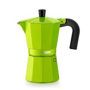 Braisogona M391703 Monix Lima Aluminium 3 Cups Coffee Maker, Lemon