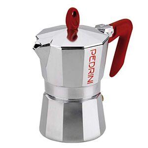 PEDRINI Kaffettiera 9081Espresso Maker 3 Cups red