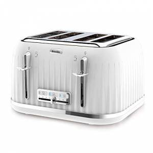 Breville VTT470 Impressions 4-Slice Toaster with High-Lift and Wide Slots, White