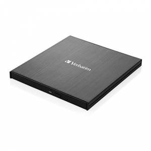 External Slimline Blu-ray Writer - USB 3.1 GEN 1 with USB-C Connection, Compact Burner for Creating Large Back-ups, black